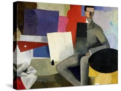 The Seated Man, or the Architect-Roger de La Fresnaye-Stretched Canvas Print