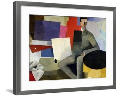 The Seated Man, or the Architect-Roger de La Fresnaye-Framed Giclee Print
