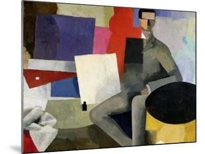 The Seated Man, or the Architect-Roger de La Fresnaye-Mounted Giclee Print