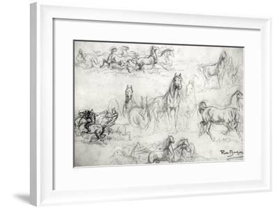 Study of Horses-Rosa Bonheur-Framed Giclee Print