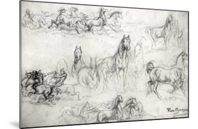 Study of Horses-Rosa Bonheur-Mounted Giclee Print