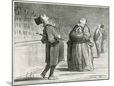 Parisians Waiting for the Famous Comet, 1857-Honore Daumier-Mounted Giclee Print