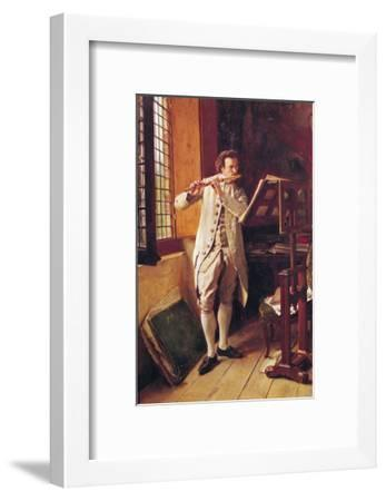 The Flute Player-Jean-Louis Ernest Meissonier-Framed Giclee Print