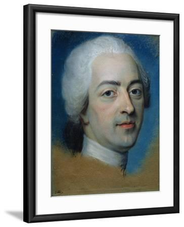 Louis XV (1710-74) King of France and Navarre, after 1730-Maurice Quentin de La Tour-Framed Giclee Print