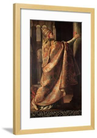 Pope Urban II (circa 1035-99) Consecrating the Church of St. Sernin of Toulouse-Antoine Rivalz-Framed Giclee Print