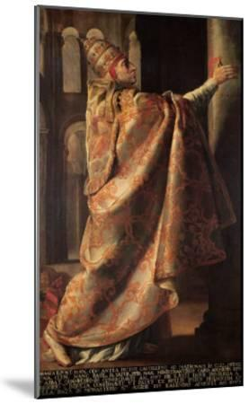 Pope Urban II (circa 1035-99) Consecrating the Church of St. Sernin of Toulouse-Antoine Rivalz-Mounted Giclee Print