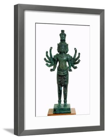 Shiva with Many Arms and Heads, Angkor--Framed Giclee Print