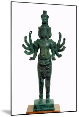 Shiva with Many Arms and Heads, Angkor--Mounted Giclee Print