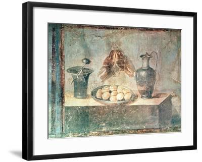 Still Life with Eggs and Thrushes, from the Villa Di Giulia Felice, Pompeii--Framed Giclee Print