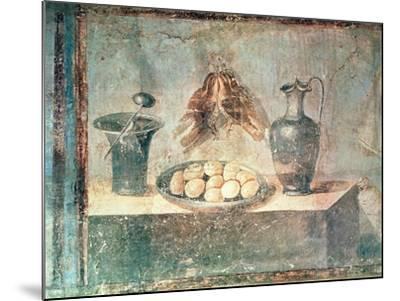 Still Life with Eggs and Thrushes, from the Villa Di Giulia Felice, Pompeii--Mounted Giclee Print