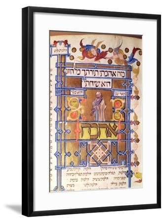 Page from the Mishneh Torah Systematic Code of Jewish Law Written by Maimonides (1135-1204) in 1180--Framed Giclee Print