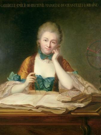 Madame De Chatelet-Lomont (1706-41)-Maurice Quentin de La Tour-Framed Giclee Print