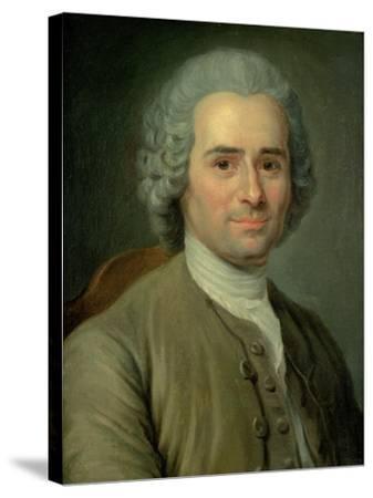 Jean-Jacques Rousseau (1712-78)-Maurice Quentin de La Tour-Stretched Canvas Print