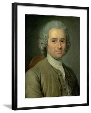 Jean-Jacques Rousseau (1712-78)-Maurice Quentin de La Tour-Framed Giclee Print