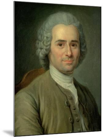 Jean-Jacques Rousseau (1712-78)-Maurice Quentin de La Tour-Mounted Giclee Print