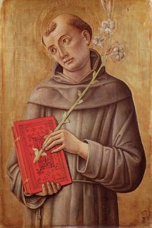 St. Anthony of Padua-Bartolomeo Vivarini-Stretched Canvas Print