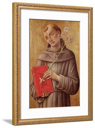St. Anthony of Padua-Bartolomeo Vivarini-Framed Giclee Print