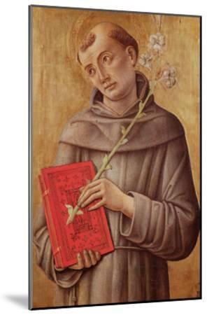 St. Anthony of Padua-Bartolomeo Vivarini-Mounted Giclee Print