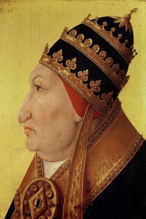 Portrait of Rodrigo Borgia (1431-1503) Pope Alexander VI--Stretched Canvas Print