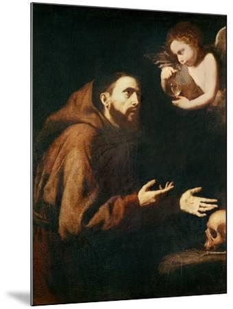 Vision of St. Francis of Assisi-Jusepe de Ribera-Mounted Giclee Print