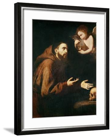 Vision of St. Francis of Assisi-Jusepe de Ribera-Framed Giclee Print