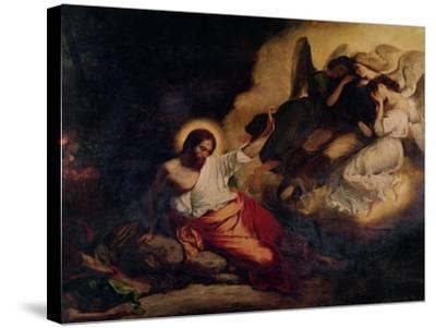 Christ in the Garden of Olives, 1827-Eugene Delacroix-Stretched Canvas Print