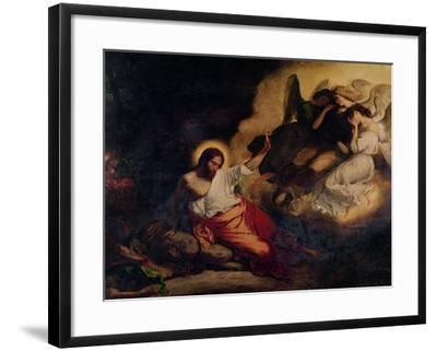 Christ in the Garden of Olives, 1827-Eugene Delacroix-Framed Giclee Print