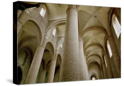 Interior View of the Nave and the Vaulting--Stretched Canvas Print