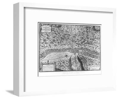 Lutetia or the First Plan of Paris, from Caesar, Strabo, Emperor Julian and Ammianus Marcellinus--Framed Premium Giclee Print