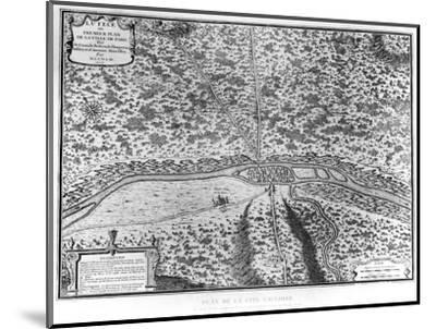 Lutetia or the First Plan of Paris, from Caesar, Strabo, Emperor Julian and Ammianus Marcellinus--Mounted Premium Giclee Print