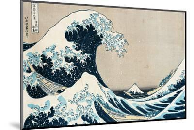 "The Great Wave Off Kanagawa, from the Series ""36 Views of Mt. Fuji"" (""Fugaku Sanjuokkei"")-Katsushika Hokusai-Mounted Giclee Print"