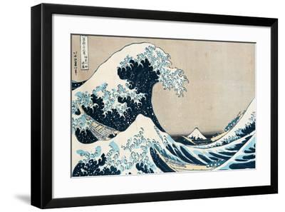 "The Great Wave Off Kanagawa, from the Series ""36 Views of Mt. Fuji"" (""Fugaku Sanjuokkei"")-Katsushika Hokusai-Framed Giclee Print"
