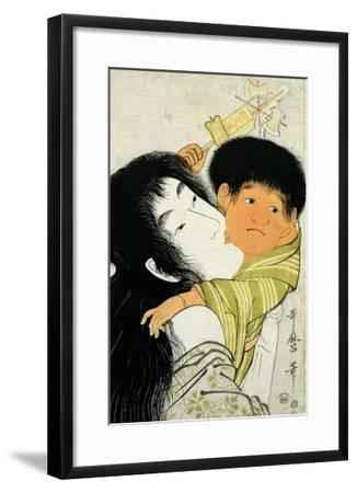 Yama-Uba and Kintoki-Kitagawa Utamaro-Framed Giclee Print