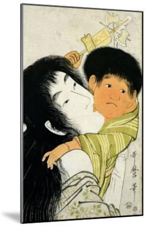 Yama-Uba and Kintoki-Kitagawa Utamaro-Mounted Giclee Print