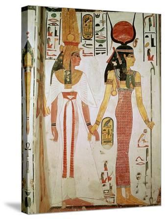 Isis and Nefertari, from the Tomb of Nefertari, New Kingdom (Mural)--Stretched Canvas Print