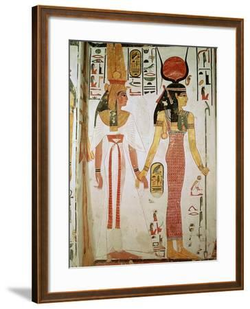 Isis and Nefertari, from the Tomb of Nefertari, New Kingdom (Mural)--Framed Giclee Print