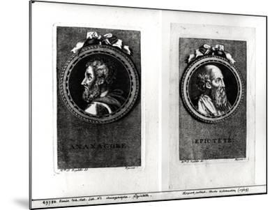 Anaxagorus (500-428 BC) and Epictetus (1st Century) Engraved by S. Beyssent-Claude Reydellet-Mounted Giclee Print