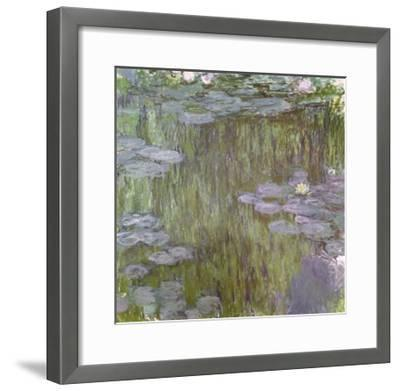 Nympheas at Giverny, 1918-Claude Monet-Framed Giclee Print