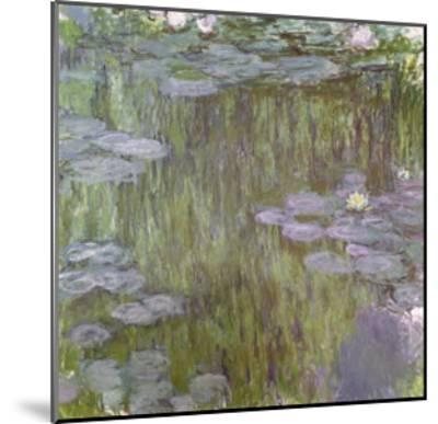 Nympheas at Giverny, 1918-Claude Monet-Mounted Giclee Print