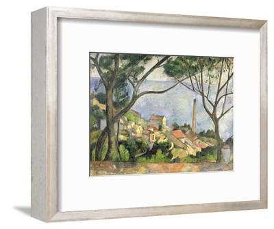 The Sea at L'Estaque, 1878--Framed Premium Giclee Print