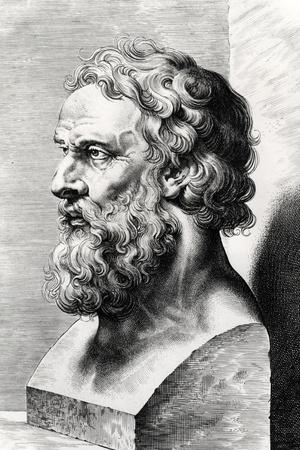 Bust of Plato (circa 427-circa 348 BC) Engraved by Lucas Emil Vorsterman (1595-1675)-Peter Paul Rubens-Stretched Canvas Print