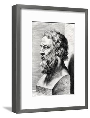 Bust of Plato (circa 427-circa 348 BC) Engraved by Lucas Emil Vorsterman (1595-1675)-Peter Paul Rubens-Framed Giclee Print