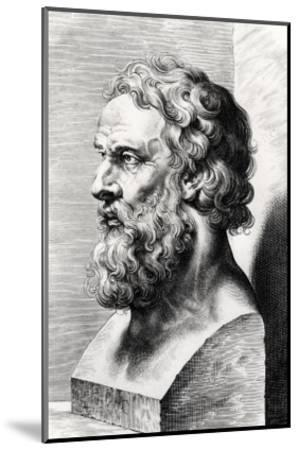 Bust of Plato (circa 427-circa 348 BC) Engraved by Lucas Emil Vorsterman (1595-1675)-Peter Paul Rubens-Mounted Giclee Print