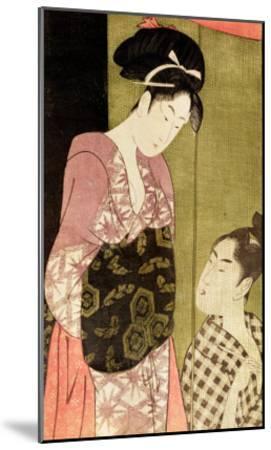 A Man Painting a Woman-Kitagawa Utamaro-Mounted Giclee Print