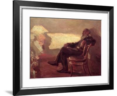 Lev Nikolaevich Tolstoy (1828-1910) 1901-Leonid Osipovic Pasternak-Framed Giclee Print