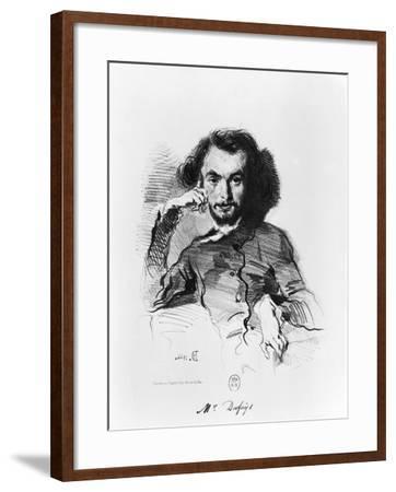 Charles Baudelaire (1821-67) 1844-Emile Deroy-Framed Giclee Print