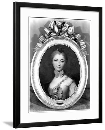 Portrait of Louise Honorine Crozat Du Chatel (B.1737) Duchess of Choiseul-Francois Boucher-Framed Giclee Print