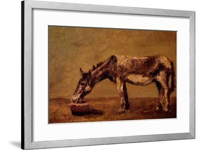 The Donkey-Gustave Courbet-Framed Giclee Print