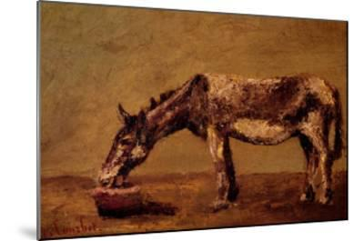 The Donkey-Gustave Courbet-Mounted Giclee Print