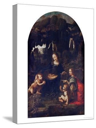 Madonna of the Rocks, circa 1478-Leonardo da Vinci-Stretched Canvas Print